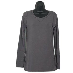 Lululemon Scoop Neck Long Sleeve Taupe Tee Shirt 6
